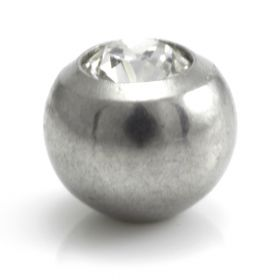 Steel External Thread Screw Gem Ball