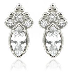 Steel Gem Caeli Cluster Stud Earrings (Pair)