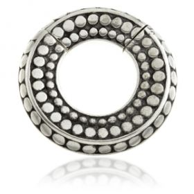 1x Hinged Silver Brass Segment Ring Ear Weight