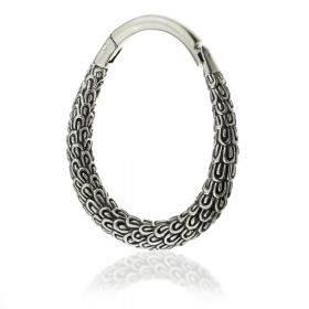 1x Hinged Silver Brass Ear Hoop Weight