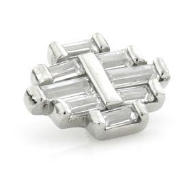 Steel Internal Thread Baguette Cluster Gem Attachment