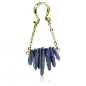 1x Sodalite Hanging Ear Weight