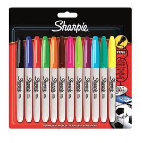 12 Multi Coloured Sharpie Pens