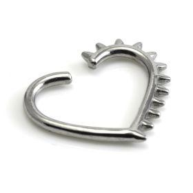 Steel Spike Heart Ring