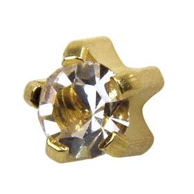 Studex Crystal Gold Tiffany Studs - Pack 12