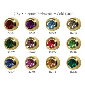 Studex Assorted Gold Bezel Studs - Pack 12