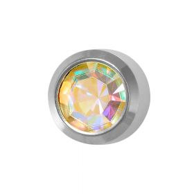 Studex AB White Steel Bezel Studs - Pack 12