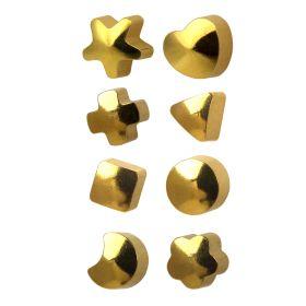 Studex Regular Gold Plate Assorted Shape Studs - Pack 12