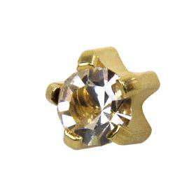 Studex Mini Crystal Gold Tiffanys Studs - Pack 12
