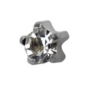 Studex Mini Crystal Euro White Tiffany Studs - Pack 12