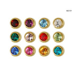 Studex Mini Assorted Gold Bezel Studs - Pack 12