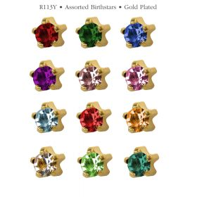 Studex Assorted Gold Tiffany Studs - Pack 12