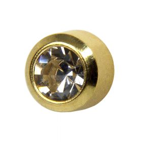 Studex Crystal Gold Bezel Studs - Pack 12