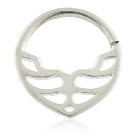 Art Deco Geometric Silver Open Ring