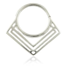 Art Deco Lines Silver Open Ring