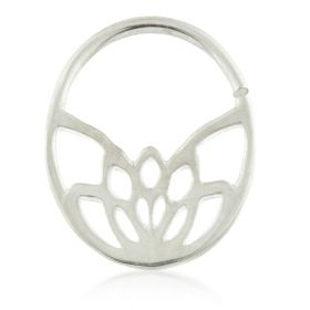 Art Deco Flower Silver Open Ring