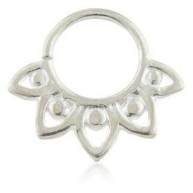 Lotus Petal Silver Open Ring