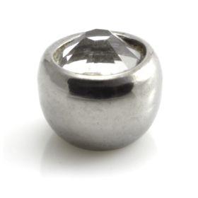 Titanium External Thread Gem Ball