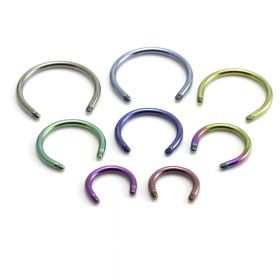 Titanium External Thread Circular Barbell Stem