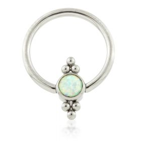 Ti BCR with Double Tri-Bead Cluster Opal Flat Disk 1.2mm