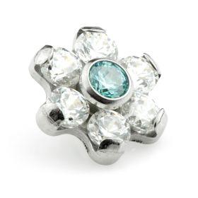 Ti Couture Internal Ti Gem Flower Attachment Crystal & BZ