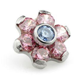 Ti Couture Internal Ti Gem Flower Attachment Rose & Sapphire