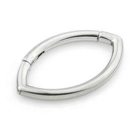 Ti Marquise Shaped Titanium Hinge Ring