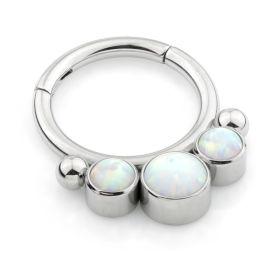 Titanium Opal Hinged Segment Ring