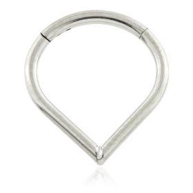 Titanium Wishbone Hinged Ring
