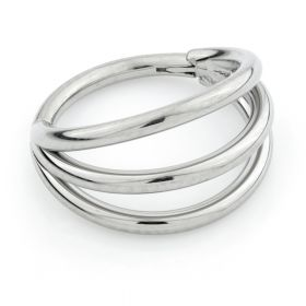 Titanium Triple Band Hinge Ring