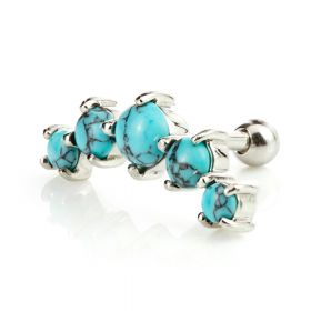 5 Claw Set Turquoise Stone Ear Stud