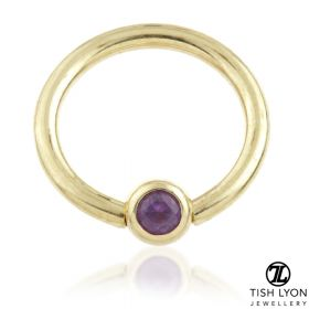 TL - 14ct Gold Amethyst BCR - 1.6mm