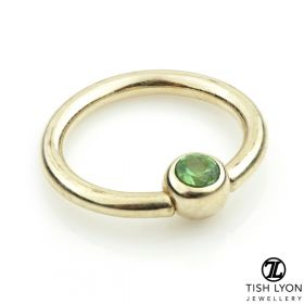 TL - 14ct Gold Emerald BCR - 1.2mm