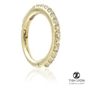 TL - 14ct Gold Pavé Diamond Eternity Hinge Ring