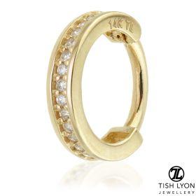 TL - 14ct Gold Diamond Channel Hinge Ring