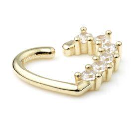 TL - Gold Jewelled Twist Heart Ring