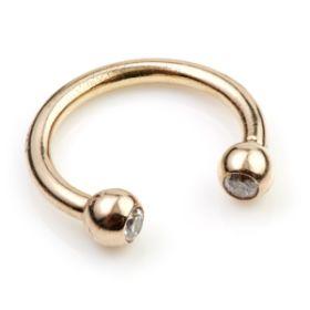 TL- Gold Gem Circular Barbell