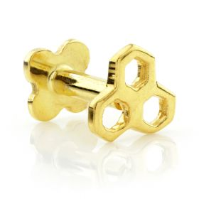 TL - Gold Open Honeycomb Internal Labret