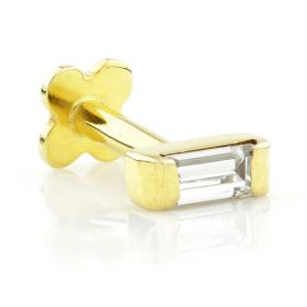 TL - Gold Jewelled Baguette Internal Labret