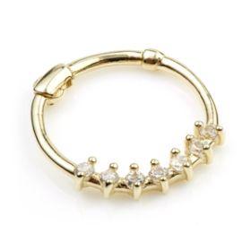 14ct Yellow Gem Gold Hinge Segment Ring - 0.8mm