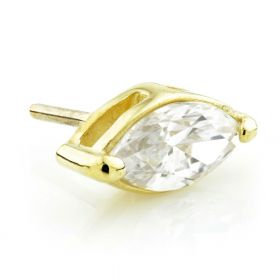 TL - 18ct Yellow Gold Marquese Gem Threadless Attachment