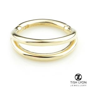 TL - Gold Double Band Hinge Ring