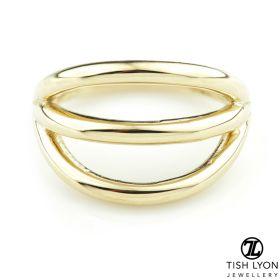 TL - Gold Triple Band Hinge Ring