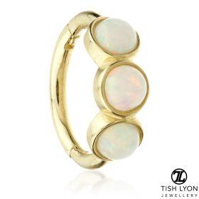 TL - Gold Triple Opal Hinge Ring