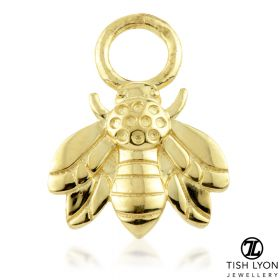 TL - Gold Bee Charm for Hinge Segment Ring