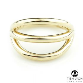 TL - Gold Triple Band Hinge Conch Ring