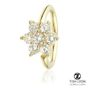 TL - Gold Gem Flower Twist Ring