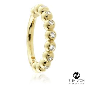 TL - Gold Jewelled Bubble Hinge Ring