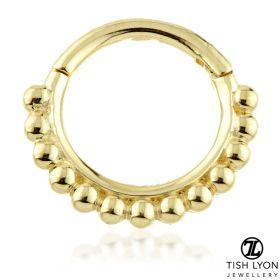 TL - Gold Ball Hinge Ring