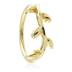 TL - 9ct Gold Vine Leaf Hinge Conch Ring